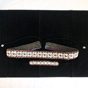 Accessories - Boho Beaded Cowrie Belt & Bracelet Set Indonesia
